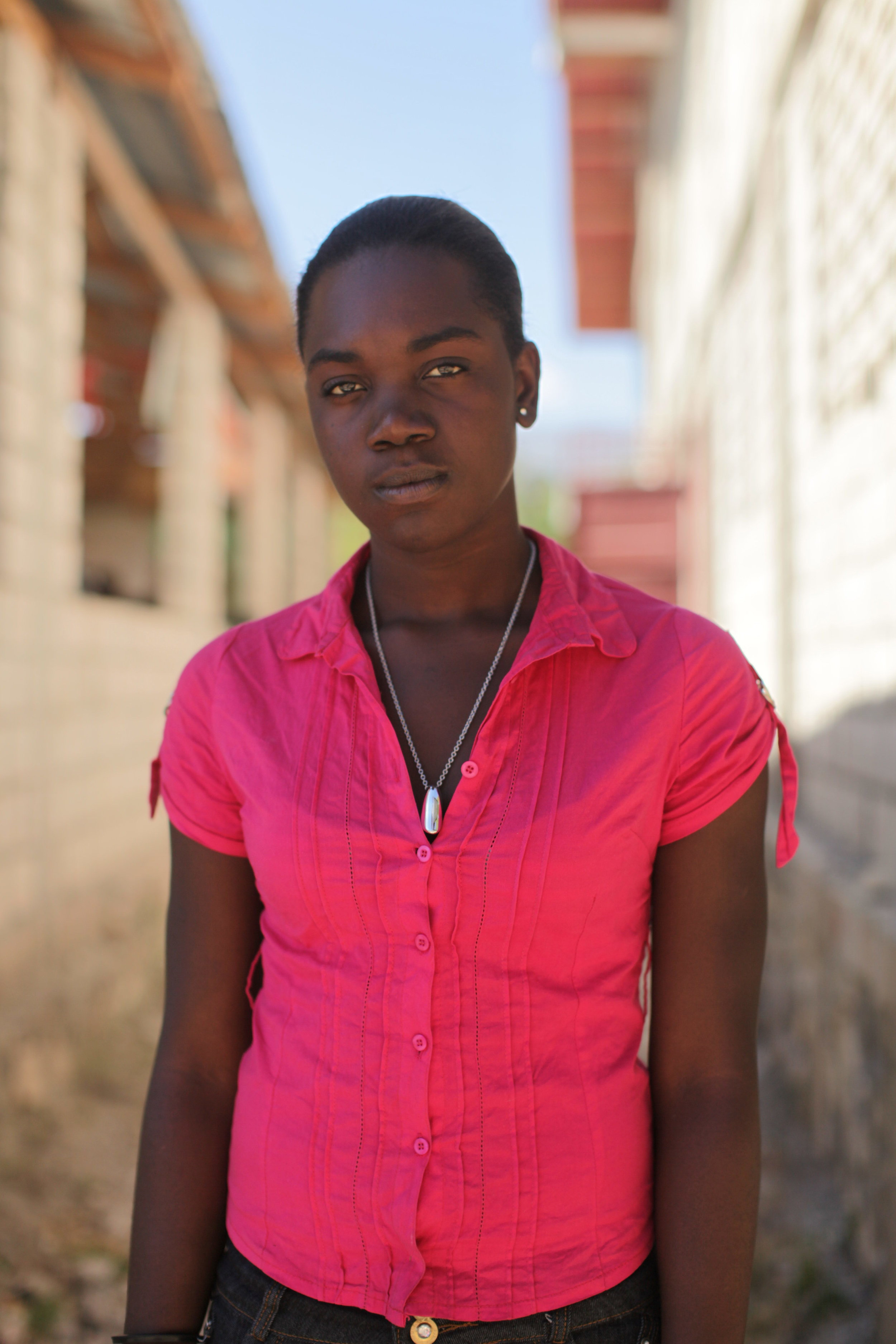 For Rosie Tannis, losing her home in the earthquake has led to new opportunities in Desarmes. Tannis was one of six young women enrolled in the construction trades in 2012-2013 at Group d'Accord Solidarité Action (GASA) in Desarmes.