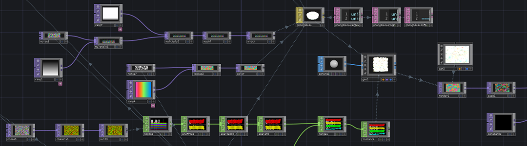An example TouchDesigner network.