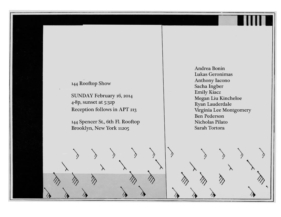 144 Rooftop  Organized by Andrea Bonin and Megan Liu Kincheloe