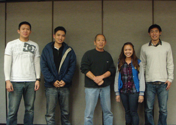 L to R: Man Wong, Daniel Kim, Art Ishii, Jessica Nguyen, and Jarred Kozaki