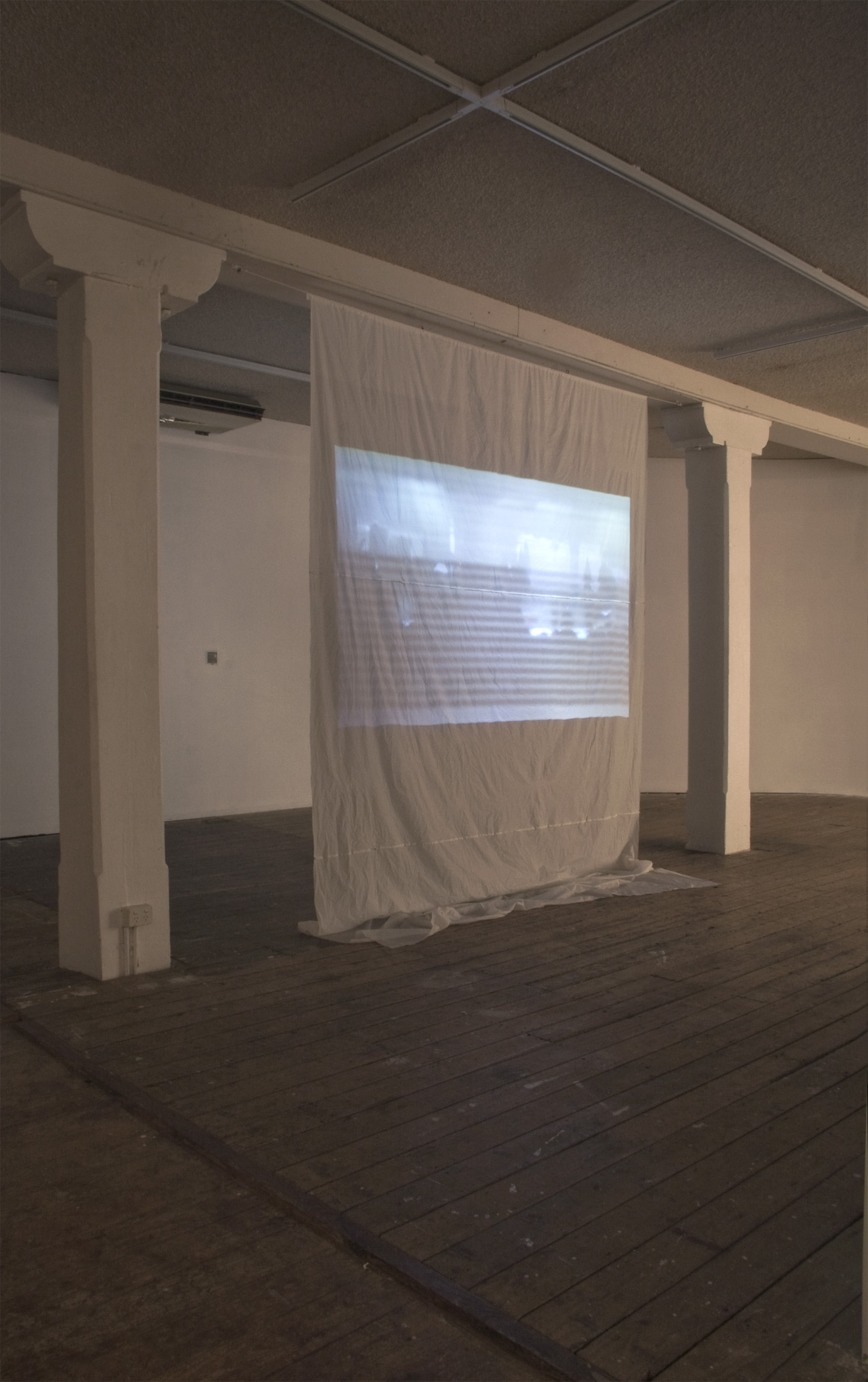 Big W on a Big W tablecloth,  projection on plastic. Collaborative work with  Llewellyn Millhouse .