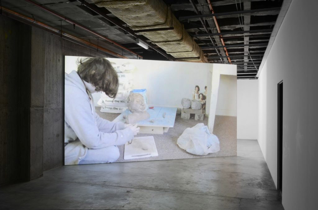 Installation view of  Bust Construction  at Success, Perth. Exhibition included  Busts of my mother  and  Elizabeth Bennet Bust Construction  video projection.  Photograph by Dan McCabe.