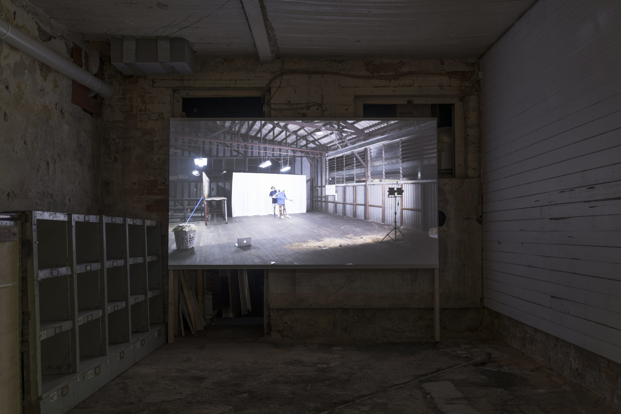 Slow Movement Sequence, video installation at Visual Bulk.  Photograph by Lucy Parakhina.
