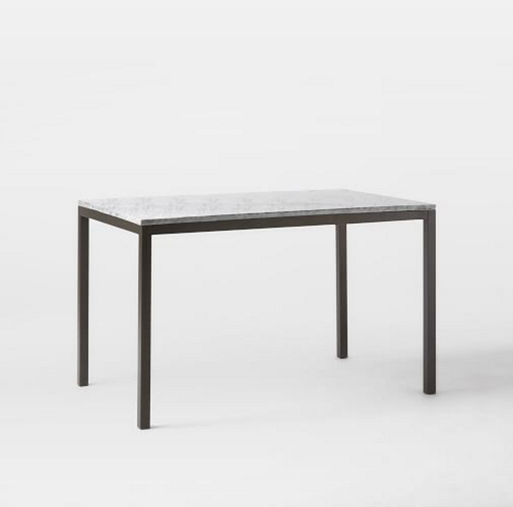 Box Frame Dining Table Marble