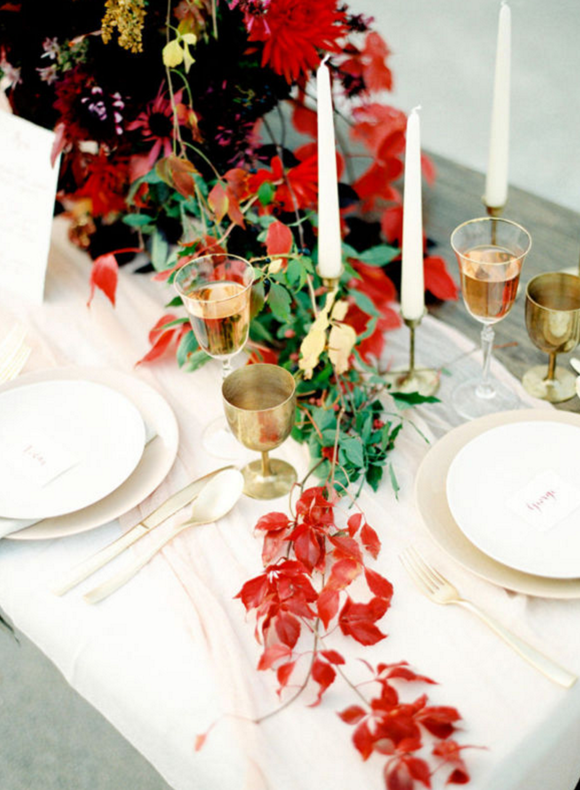 Or...I could swap the purple I had in mind for this reddish/orange. For some reason  this table is really calling me .