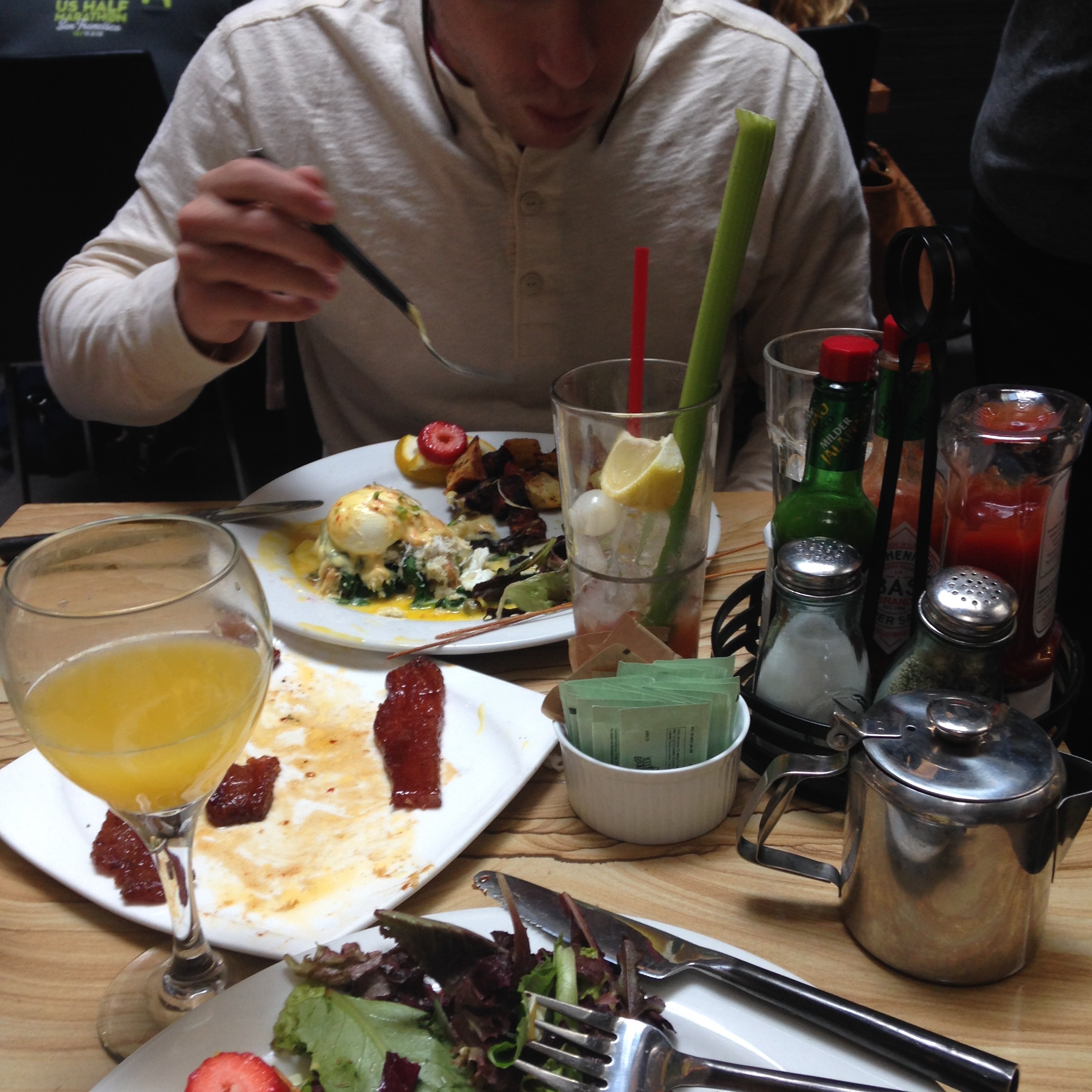 A couple weeks in we went to our first brunch in the city - something we especially loved doing at the time. This is at  Blackwood  in the Marina.