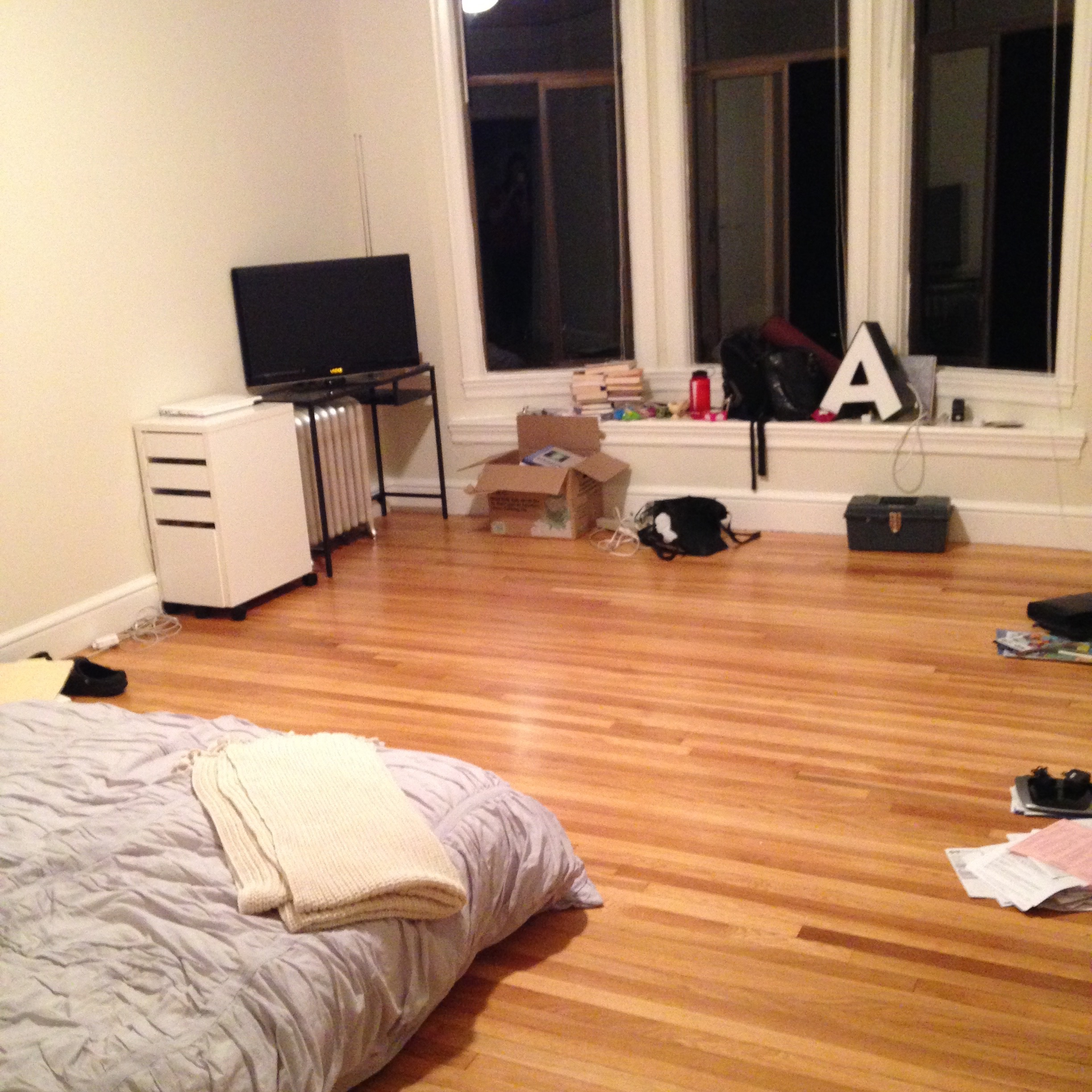 Making a little bit of progress. No furniture, but at least the boxes are unpacked!