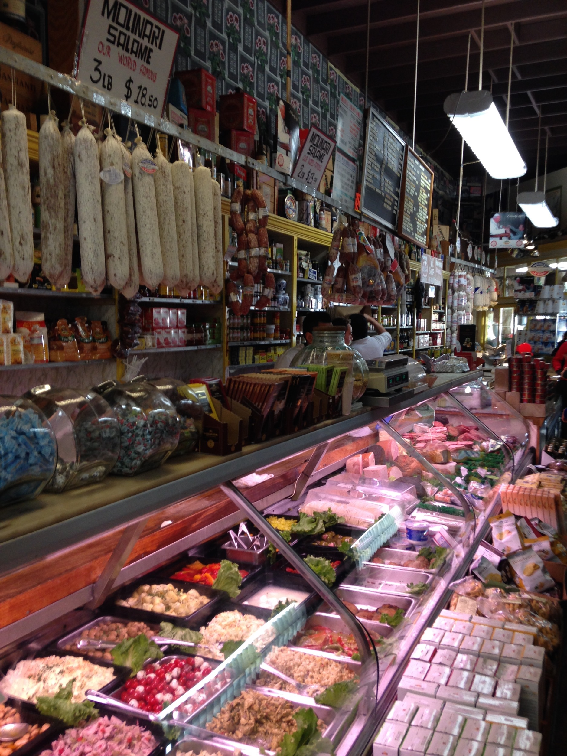 Made our first stop at  Molinari . An authentic Italian deli that makes amazing sandwiches. It's also a great spot to get some unique Christmas gifts.