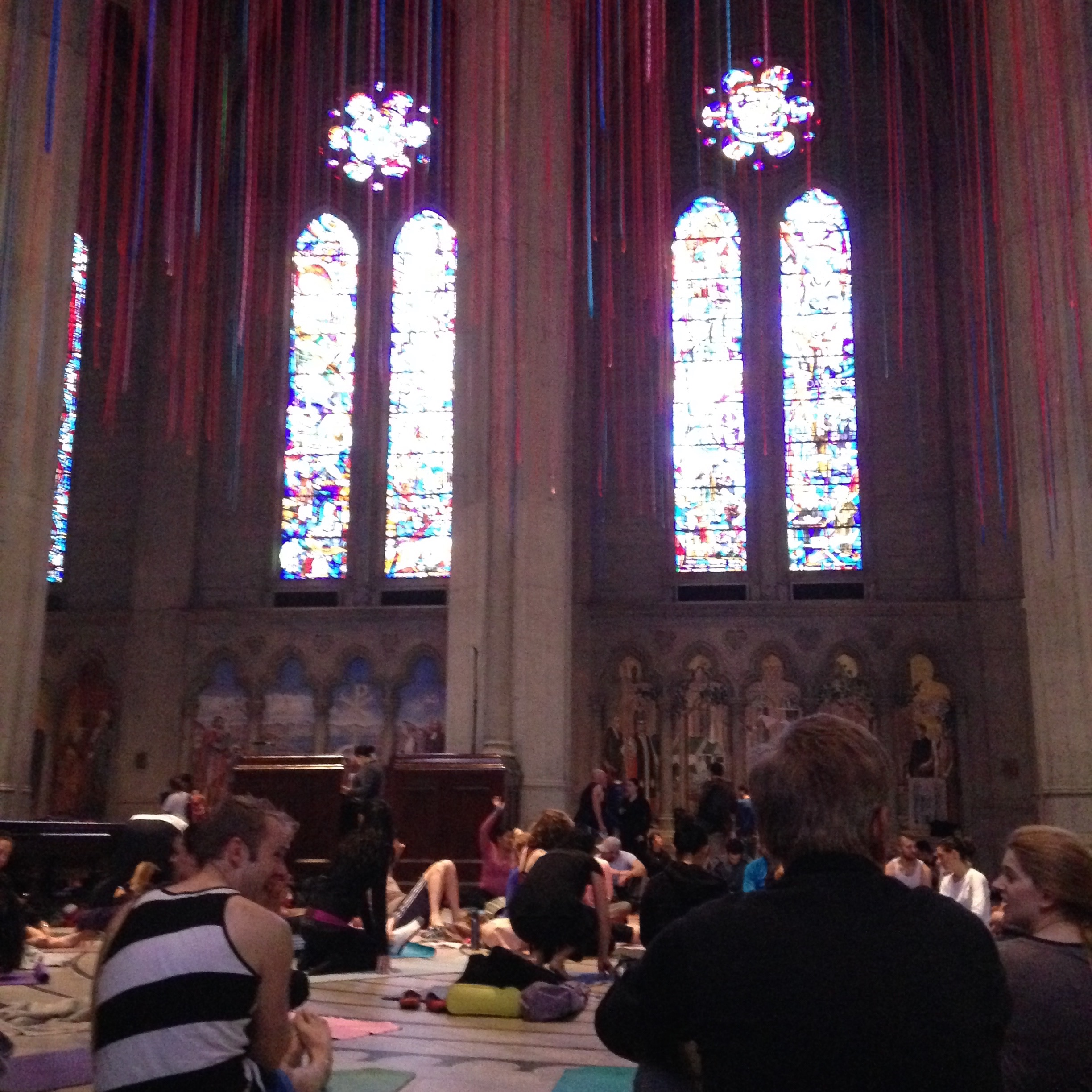 Took my first yoga class at Grace Cathedral for  Yoga on the Labyrinth . It's truly an indescribable experience. Doing yoga in the middle of the cathedral with hundreds of other people is something you have to experience to understand.