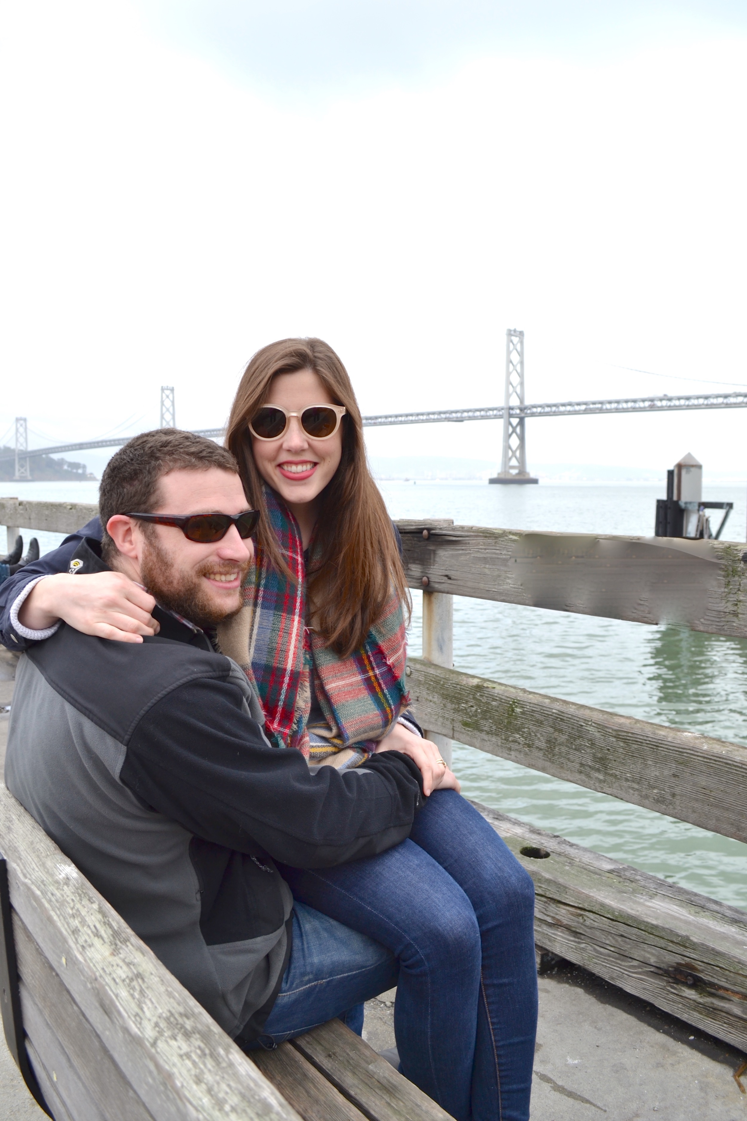 Taking in the sites along the Embarcadero.