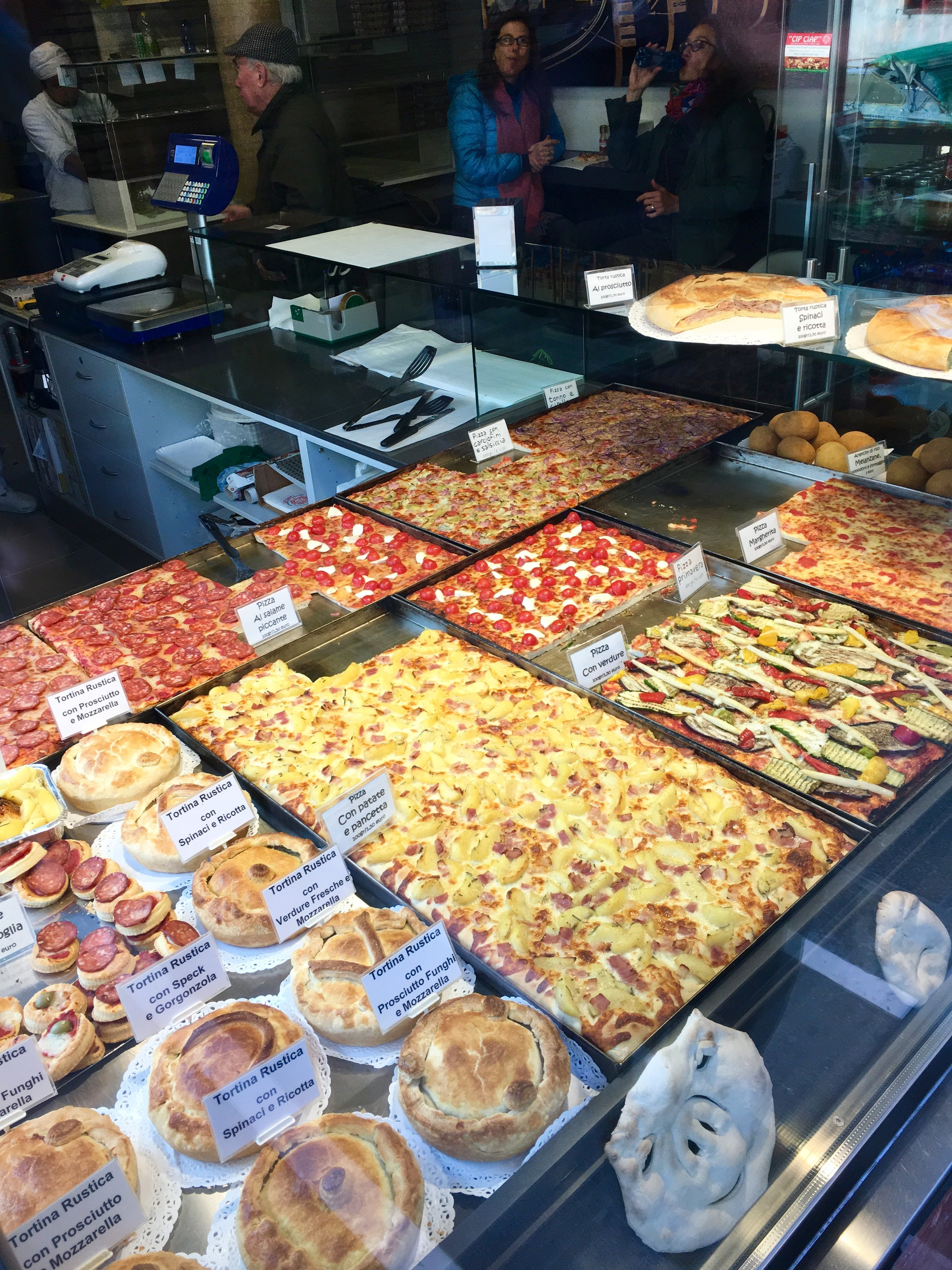 The food all over Italy was everything you dream it would be. This pizza in Venice was no exception!