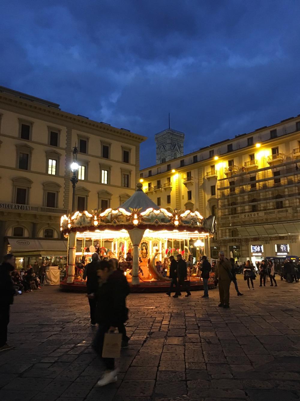 I loved exploring Florence after dark.