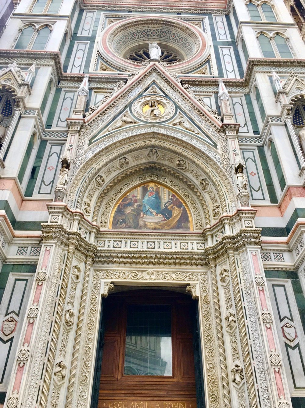 Florence's duomo is much more intricate on the outside than Sienna's.