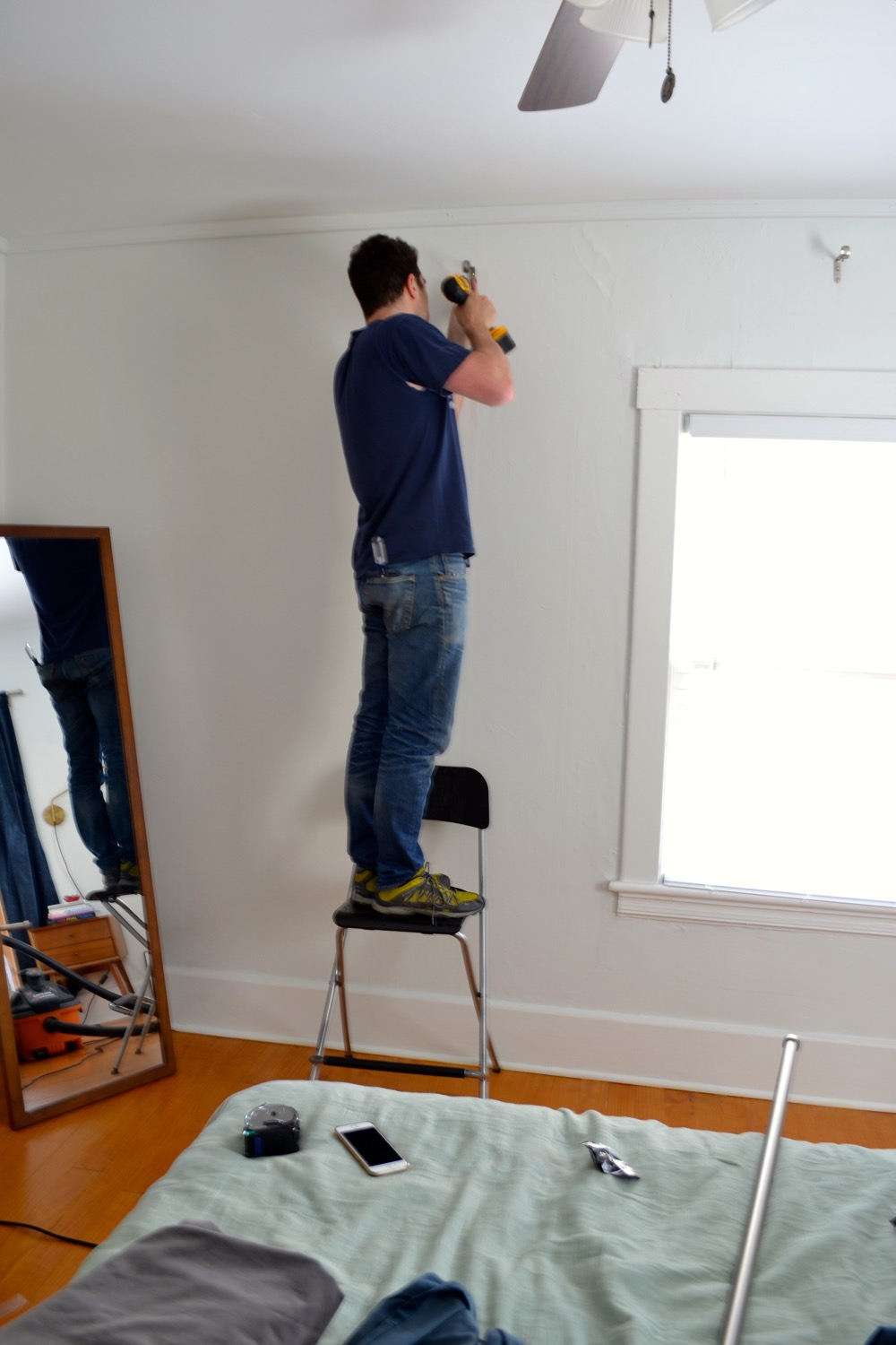 Hanging On Plaster Walls A How To For Hanging Curtains The White Apartment