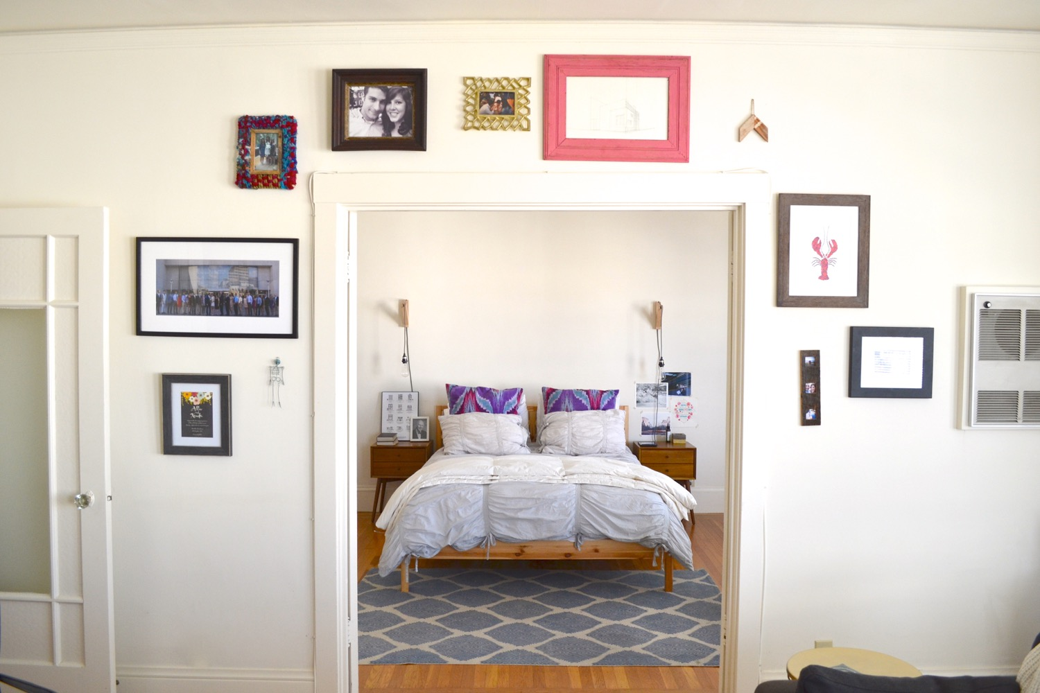 The gallery wall in our Cole Valley apartment.