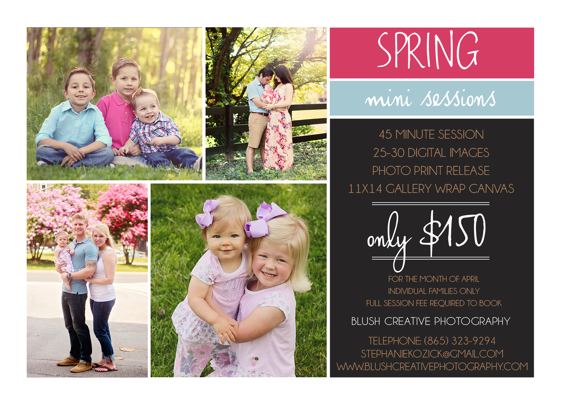 spring family photo session special