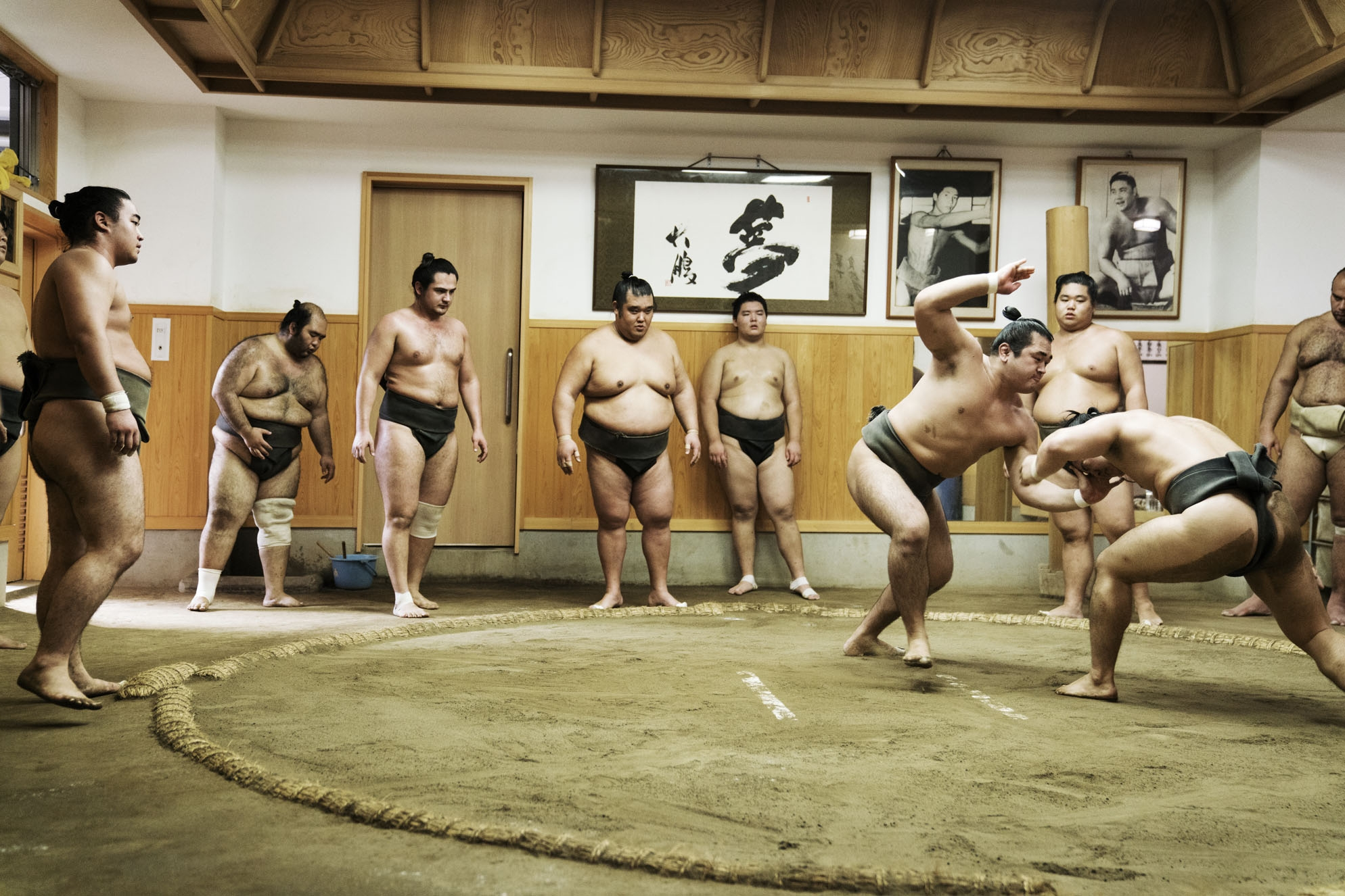 """SUMO"" Ongoing series.  As an ongoing series I am exploring the world of the Sumo in Japan. Honoured for their strength and integrity Sumo have an honorific status in Japan and Live under strict conditions in Sumo stables. Through this project I am exploring what it means to be a Sumo and what drives these boys and men to pursue such a life."