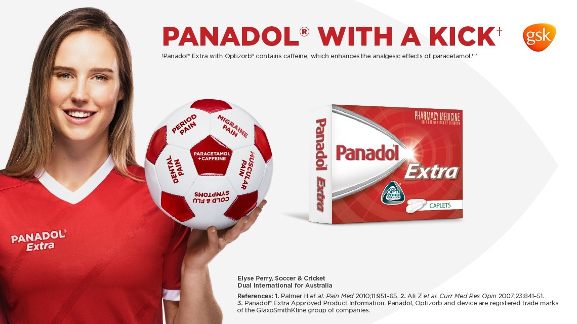 Panadol - Client: Glasko Smith Klein Agency: URSAMedia: StillsUsage: Web, printFor this campaign for Panadol we photographed Soccer star Ellyse Perry. She is a great Australian sport star and was a pleasure to work with.
