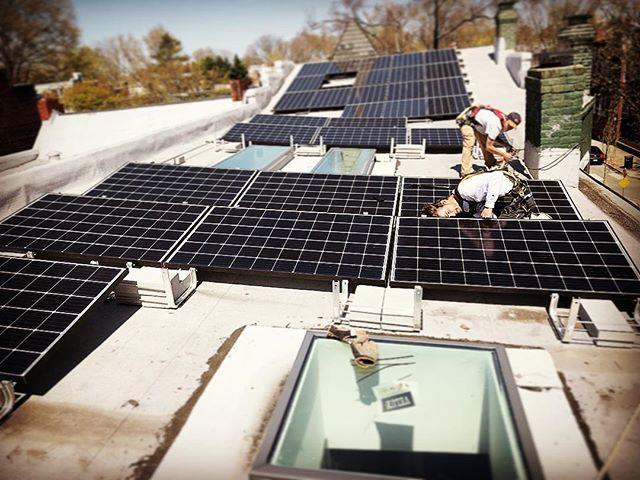 Solar install complete at our Floyd Avenue project! #rva #designbuild #fandistrict @ipsofva.solar @chrisariasrva @veluxusa