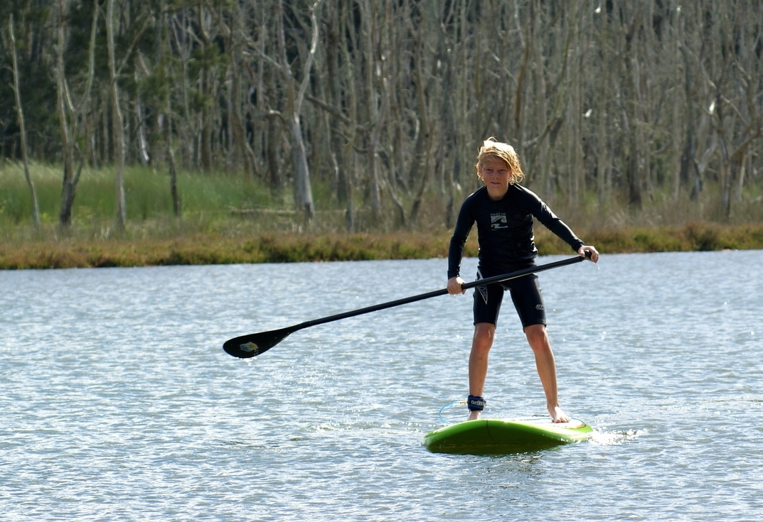 Stand Up Paddling on Lake Durras