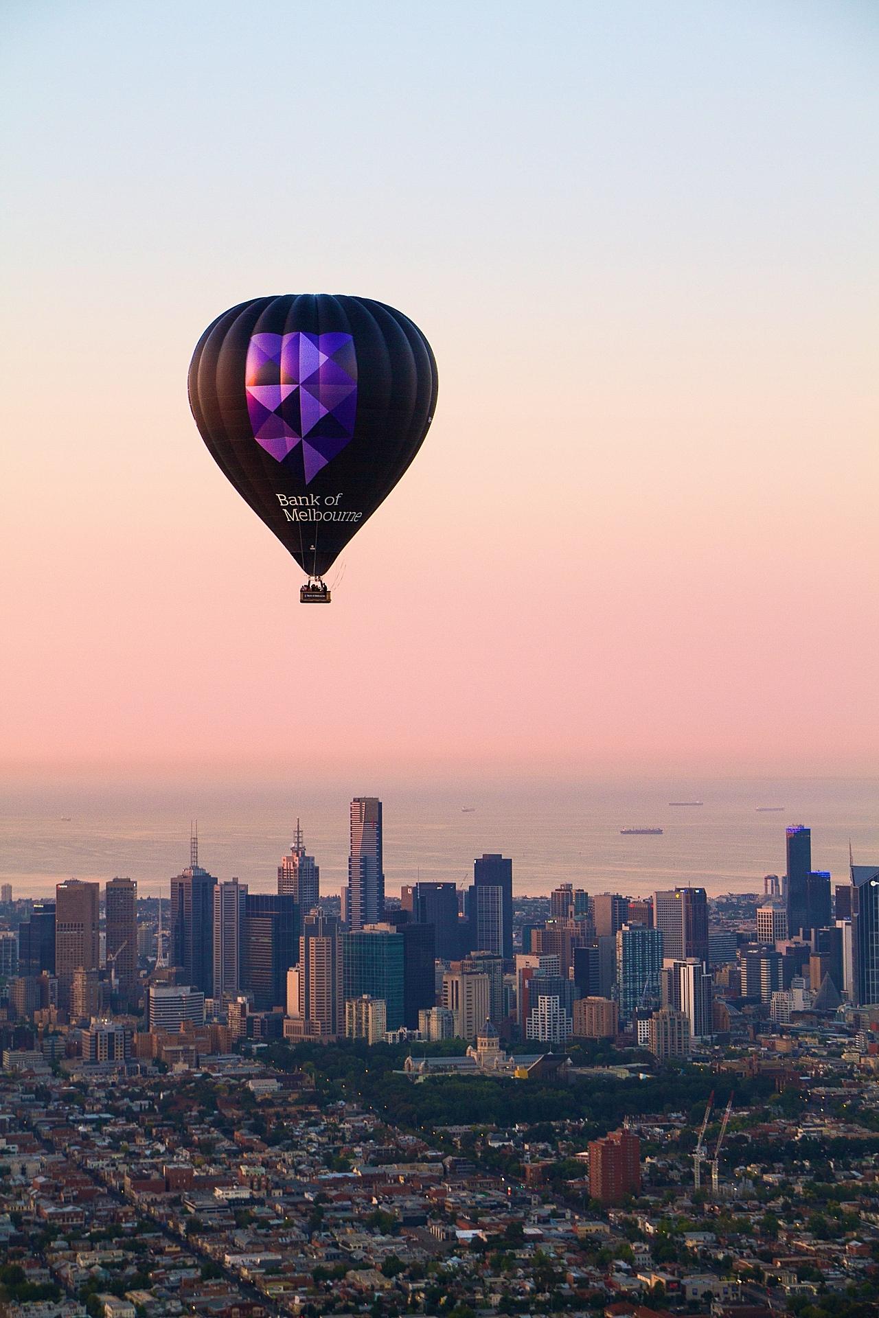 Bank of Melbourne hot air balloon over Melbourne 1.jpeg