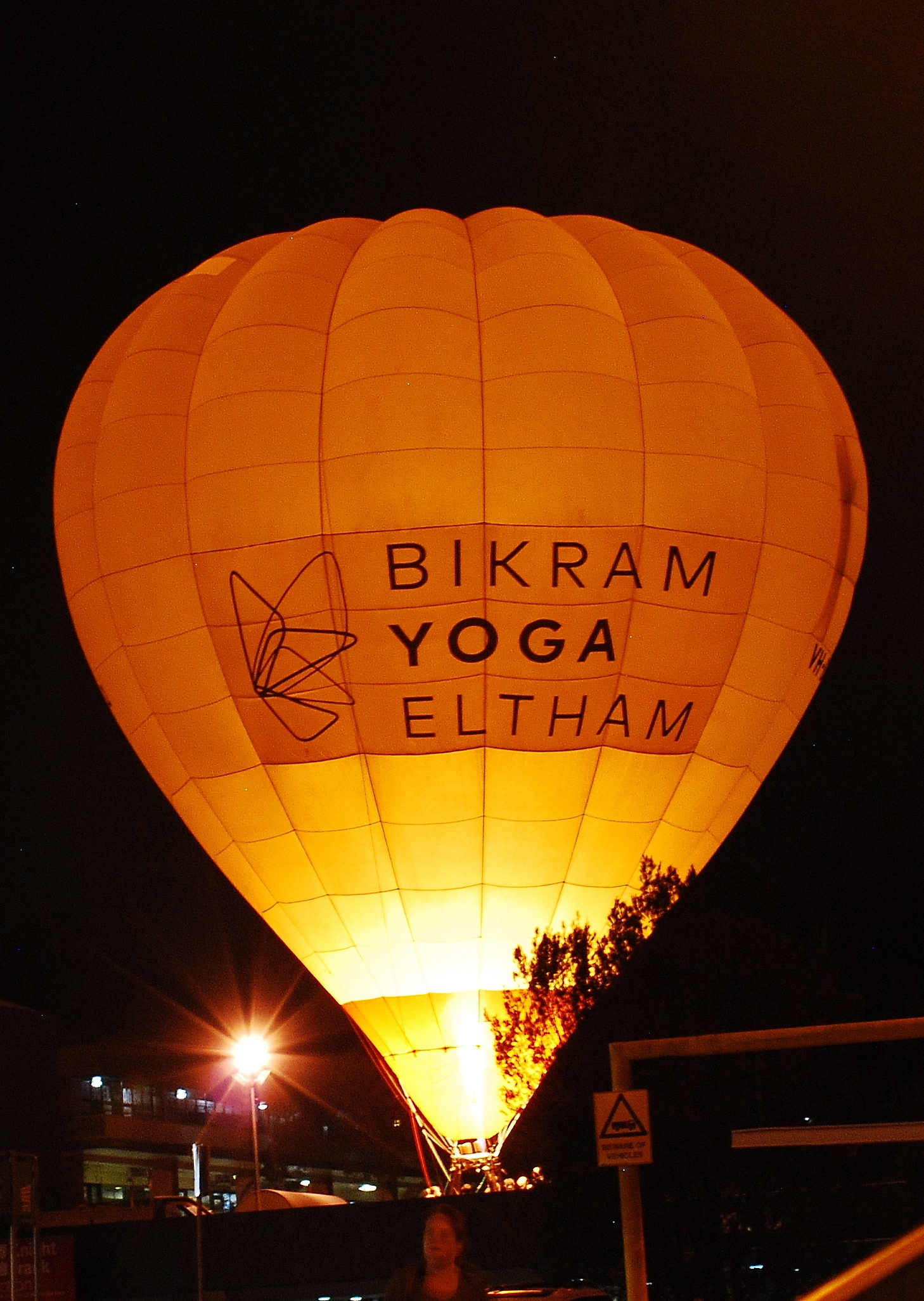 Our advertising hot air balloon for Bikram Yoga Eltham.