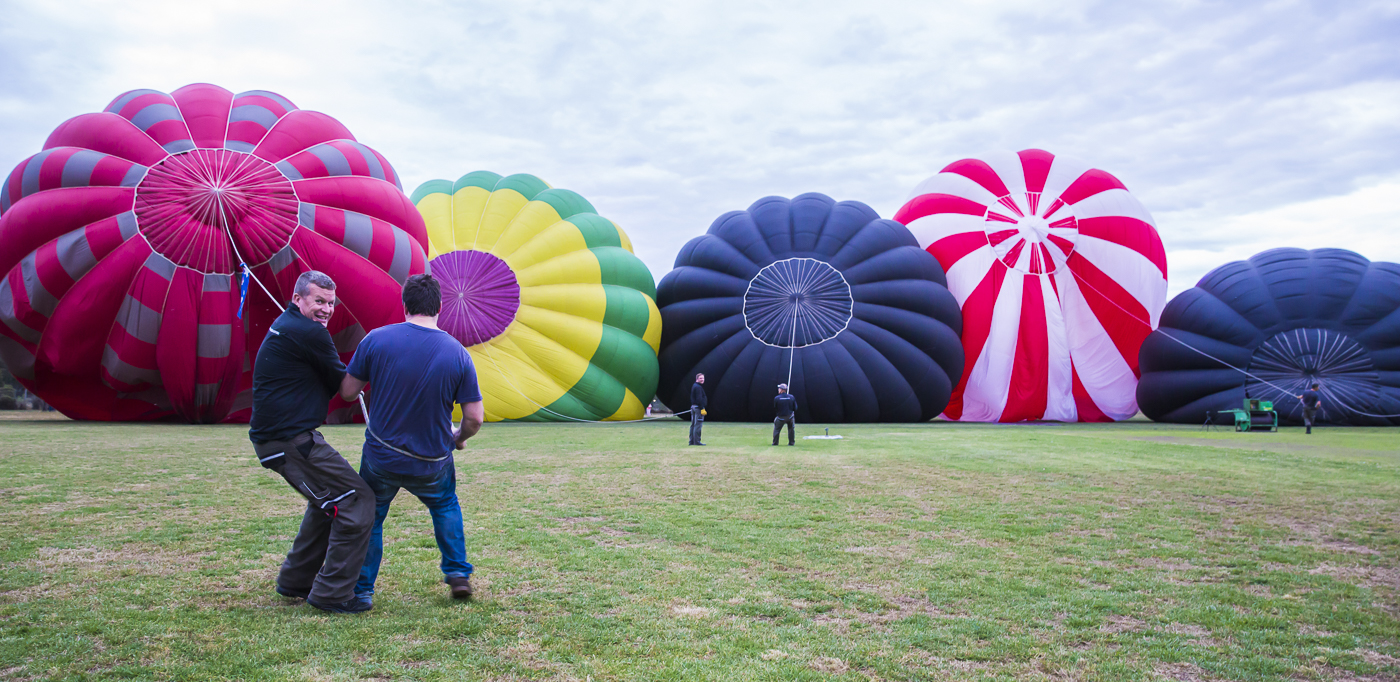 Our crew preparing balloons for flight over Melbourne city
