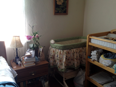 Our rooms for residents are often furnished by generous donations.