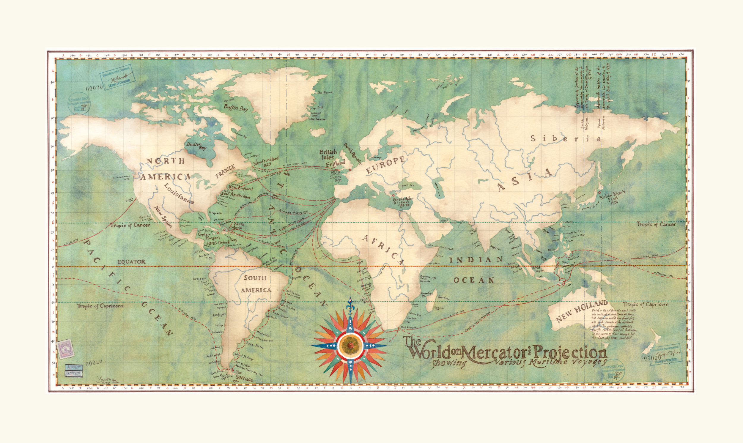 World Map Voyages