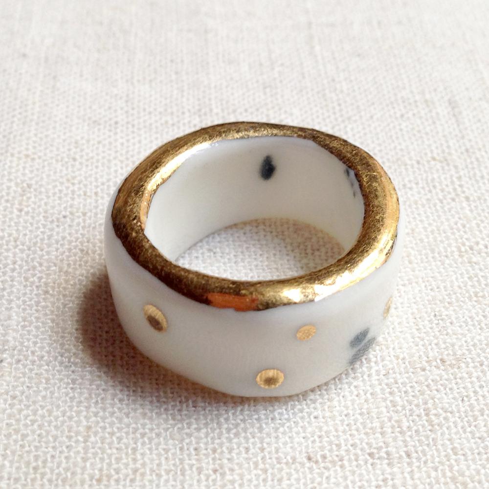 ruby pilven handmade melbourne ceramic bling ring