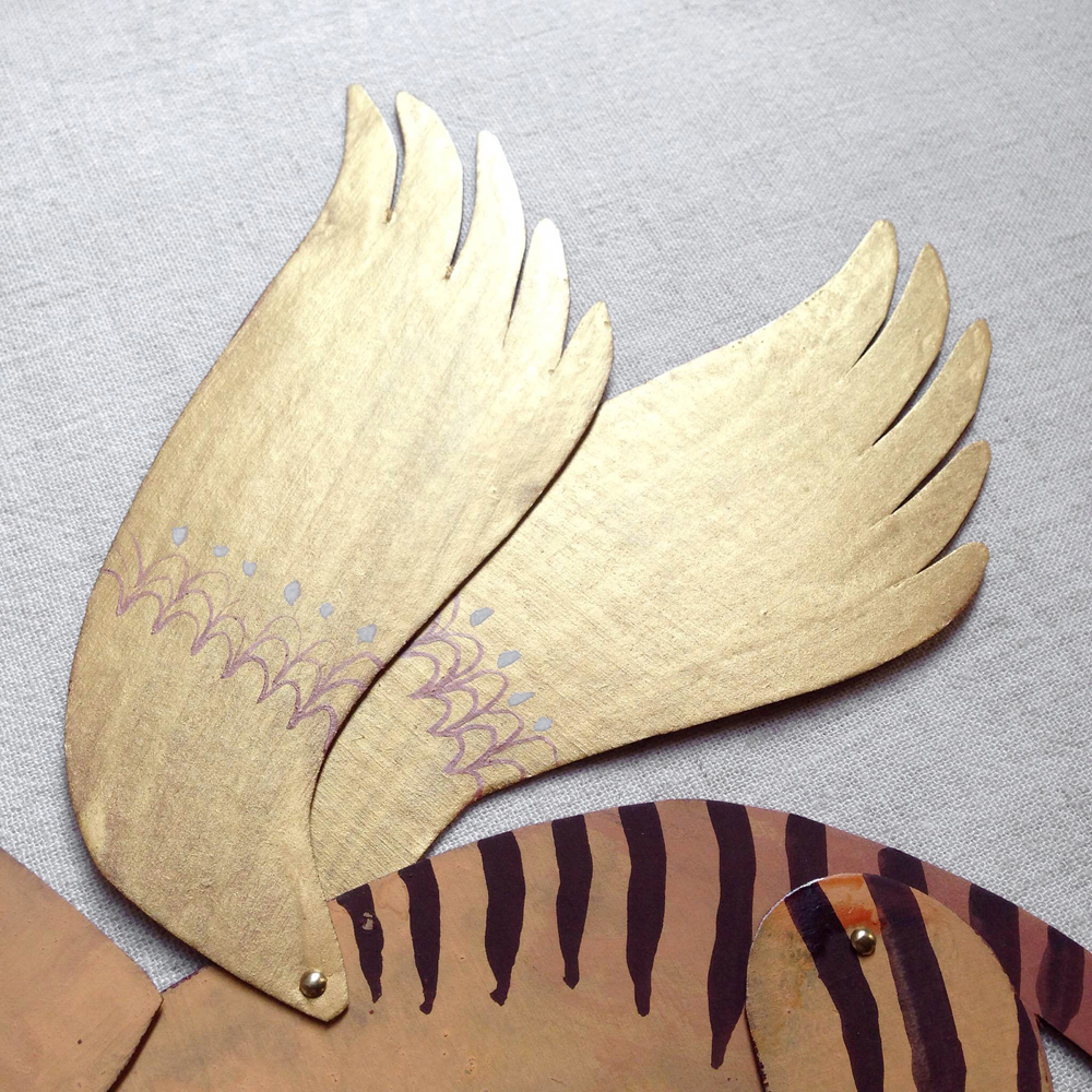 benconservato handmade paper thylacine falling for florin
