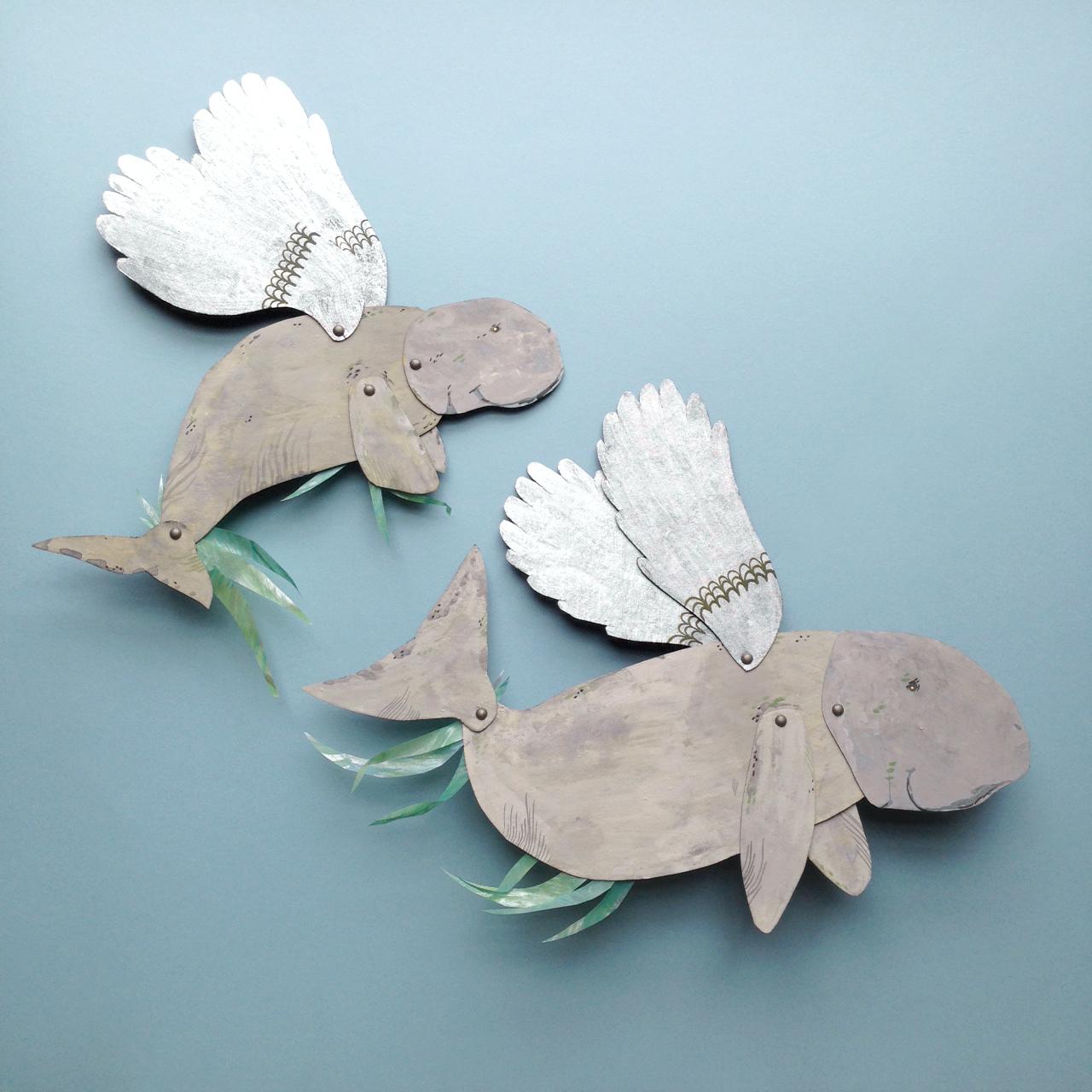 benconservato handmade paper dugongs falling for florin