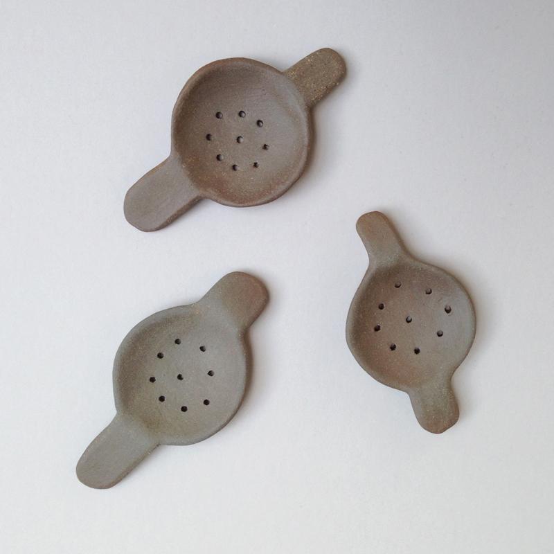 lisa peri handmade ceramic tea strainer falling for florin
