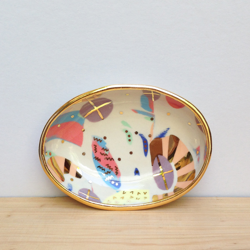 ruby pilven porcelain lustre bowl falling for florin