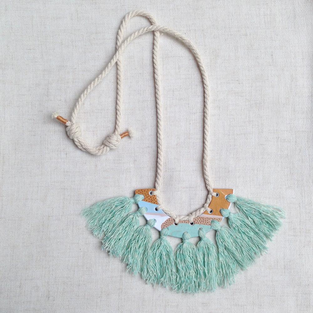 kelaoke polymer clay tassel necklace falling for florin big green b.jpg