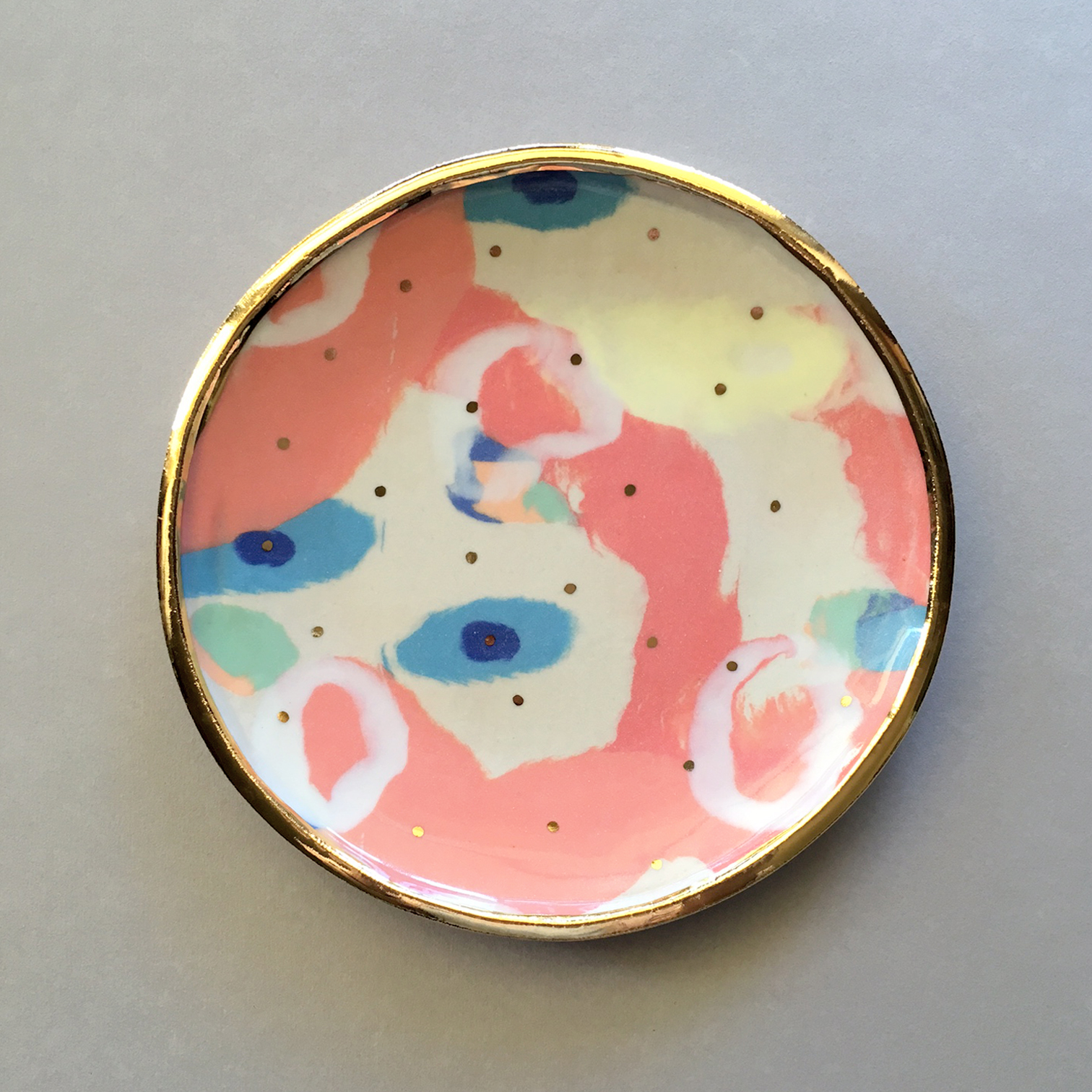 ruby pilven handmade nerikomi porcelain plate falling for florin