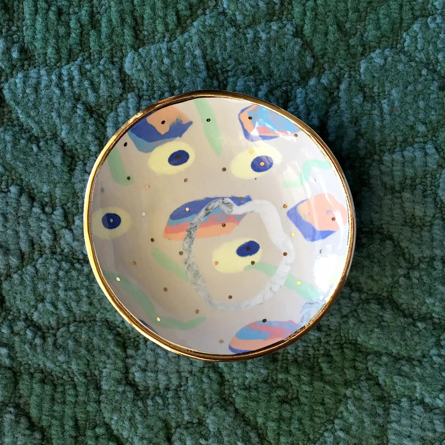 ruby pilven handmade nerikomi porcelain dish falling for florin