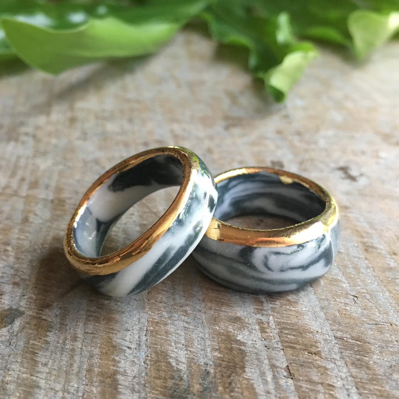 ruby pilven handmade porcelain rings falling for florin key west