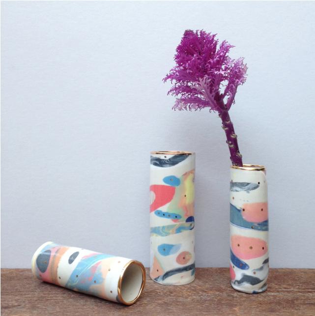 handmade porcelain vase by ruby pilven - falling for florin key west