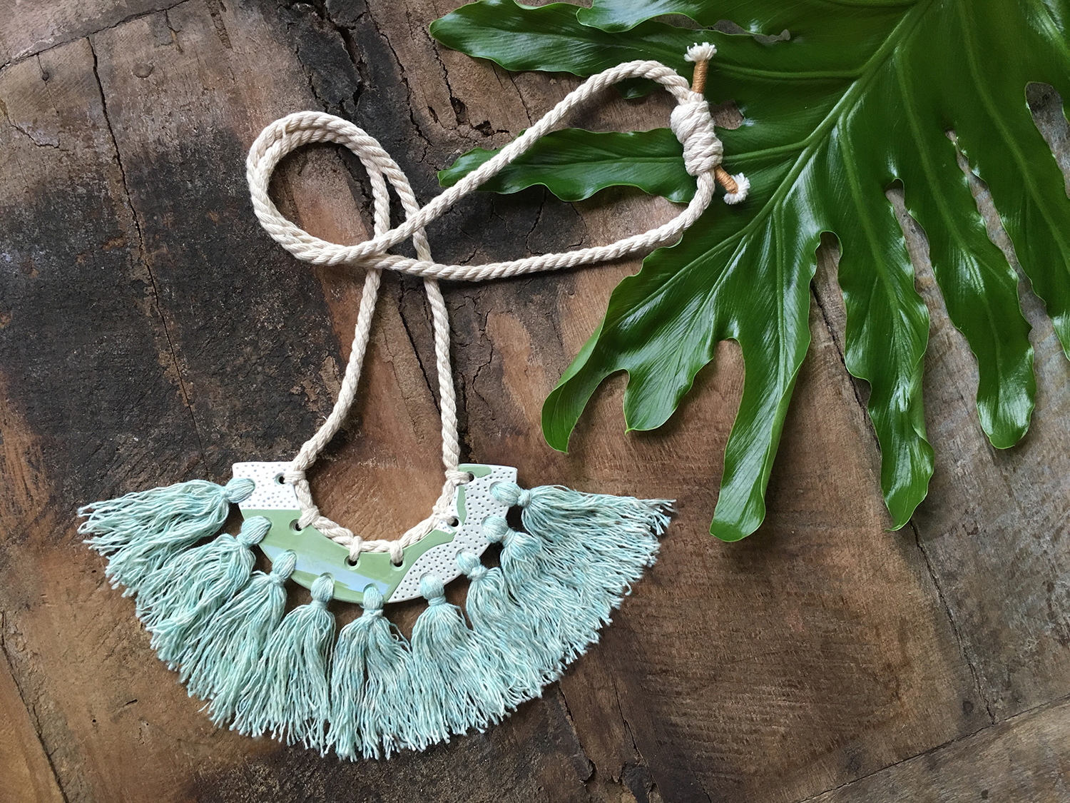 kelly chapman - polymer & fabric necklaces