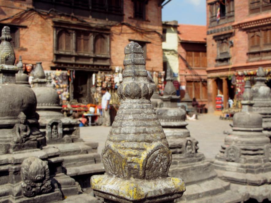 Kat_hill temple_mini stupas_close up.JPG