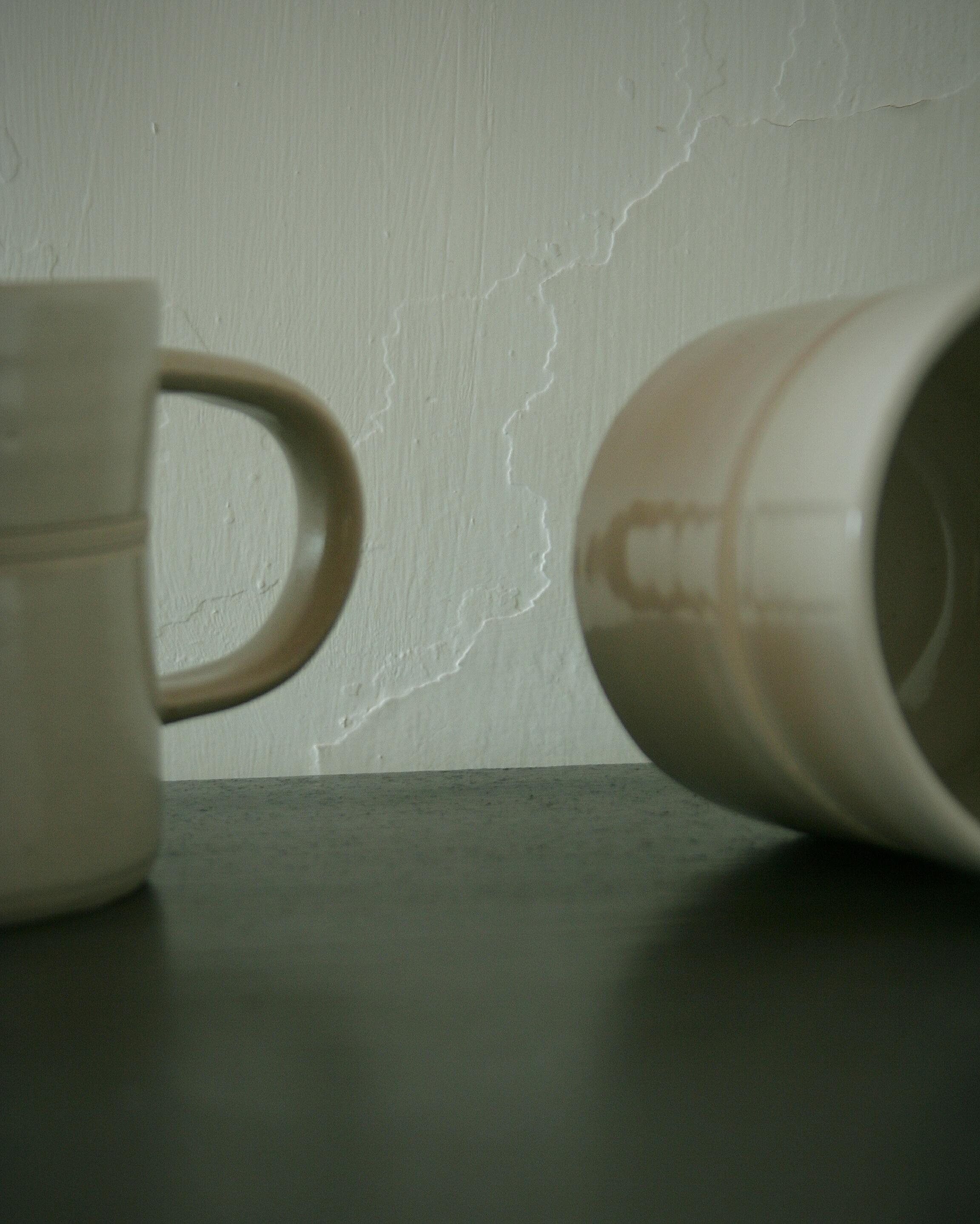 Large mugs in white