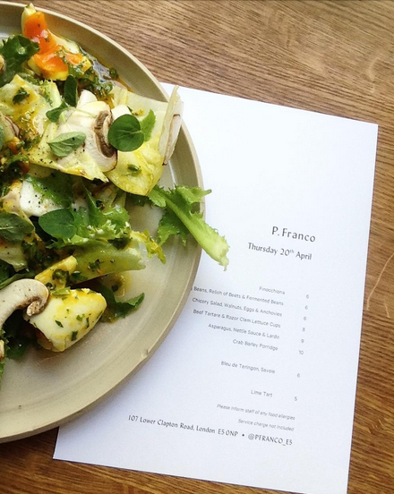 Chicory salad, Walnuts, Eggs and Anchovies
