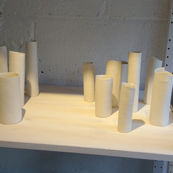 Porcelain by guest artist Celia David