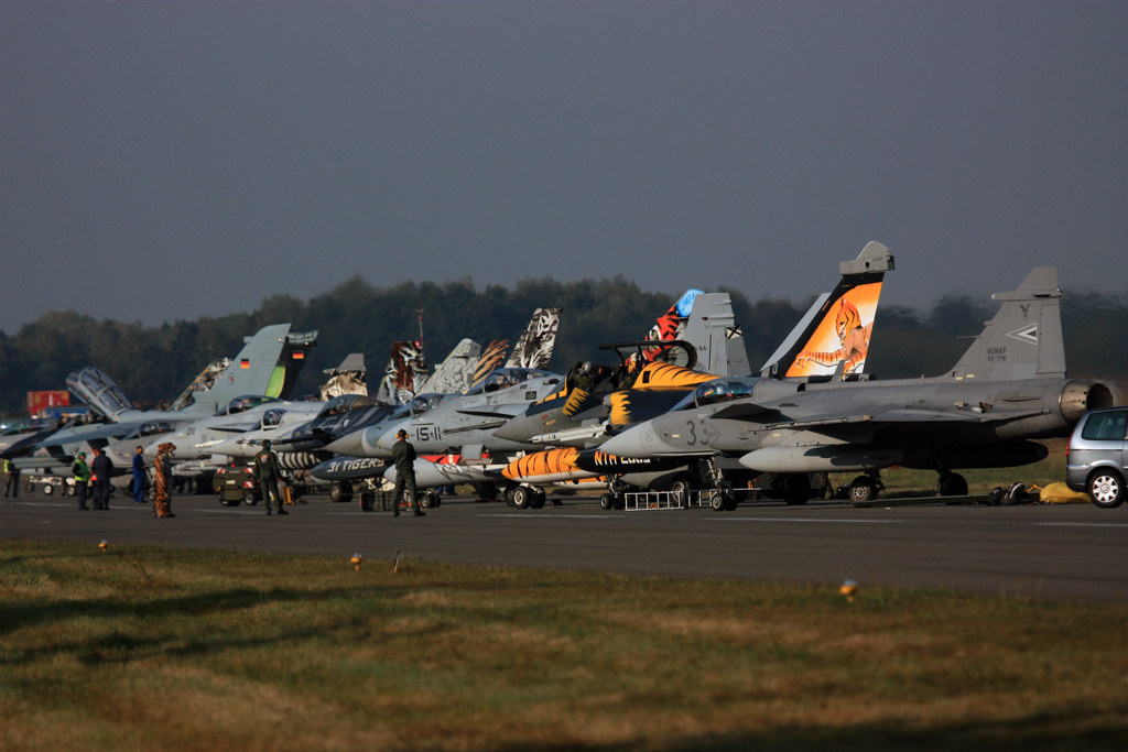 NATO Tigermeet with a full line-up of multitype of fighters.
