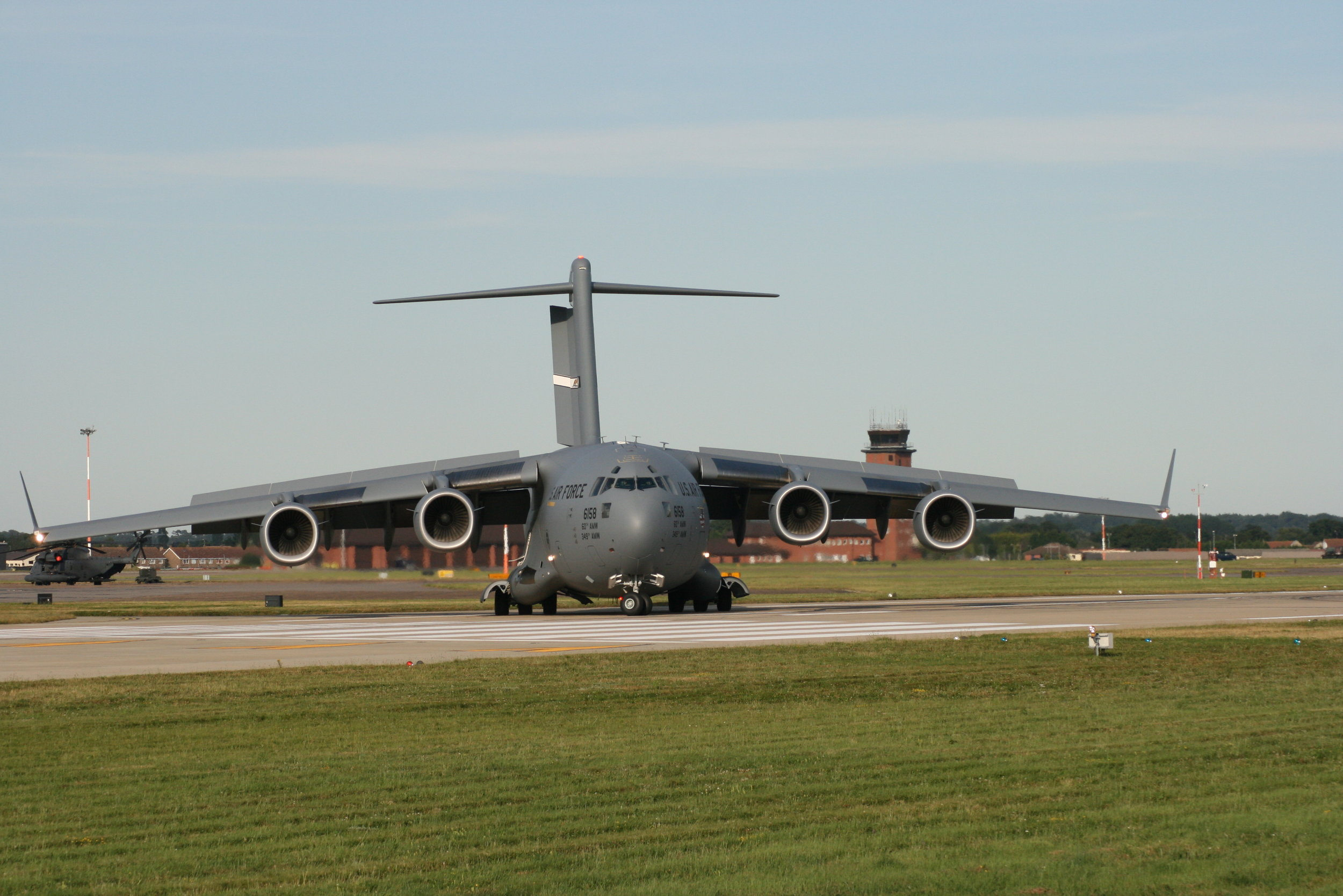 The mighty C-17 Globemaster turning on the tarmac before departure.