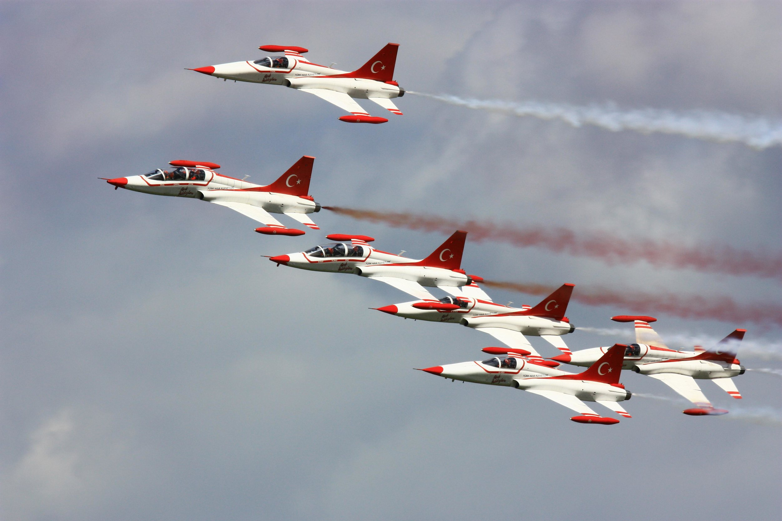 Display team of the Turkisch stars with the NF-5 Freedom Fighters.