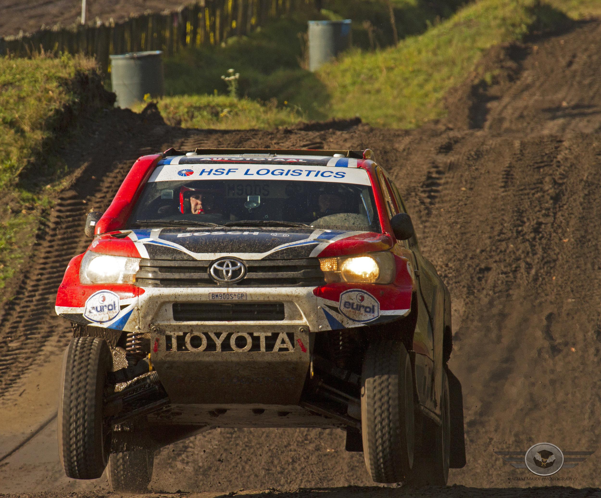 Bernhard ten Brinke in his Toyota Hilux.