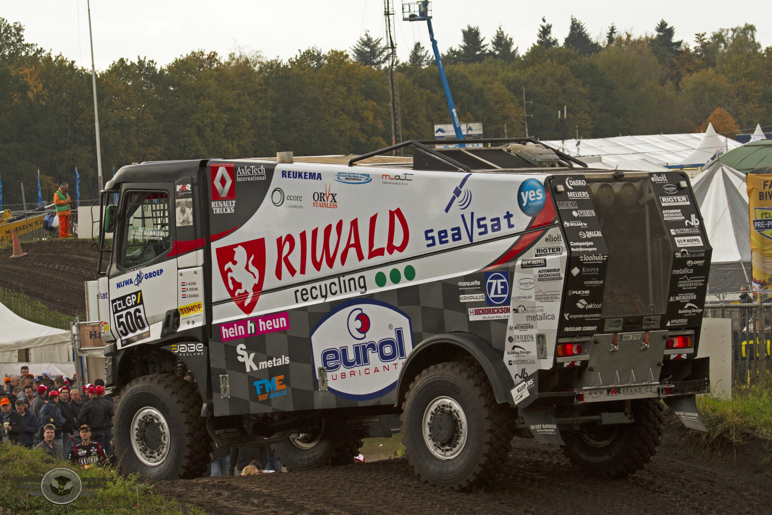 Gert Huzink in his Renault K520 on the hill.