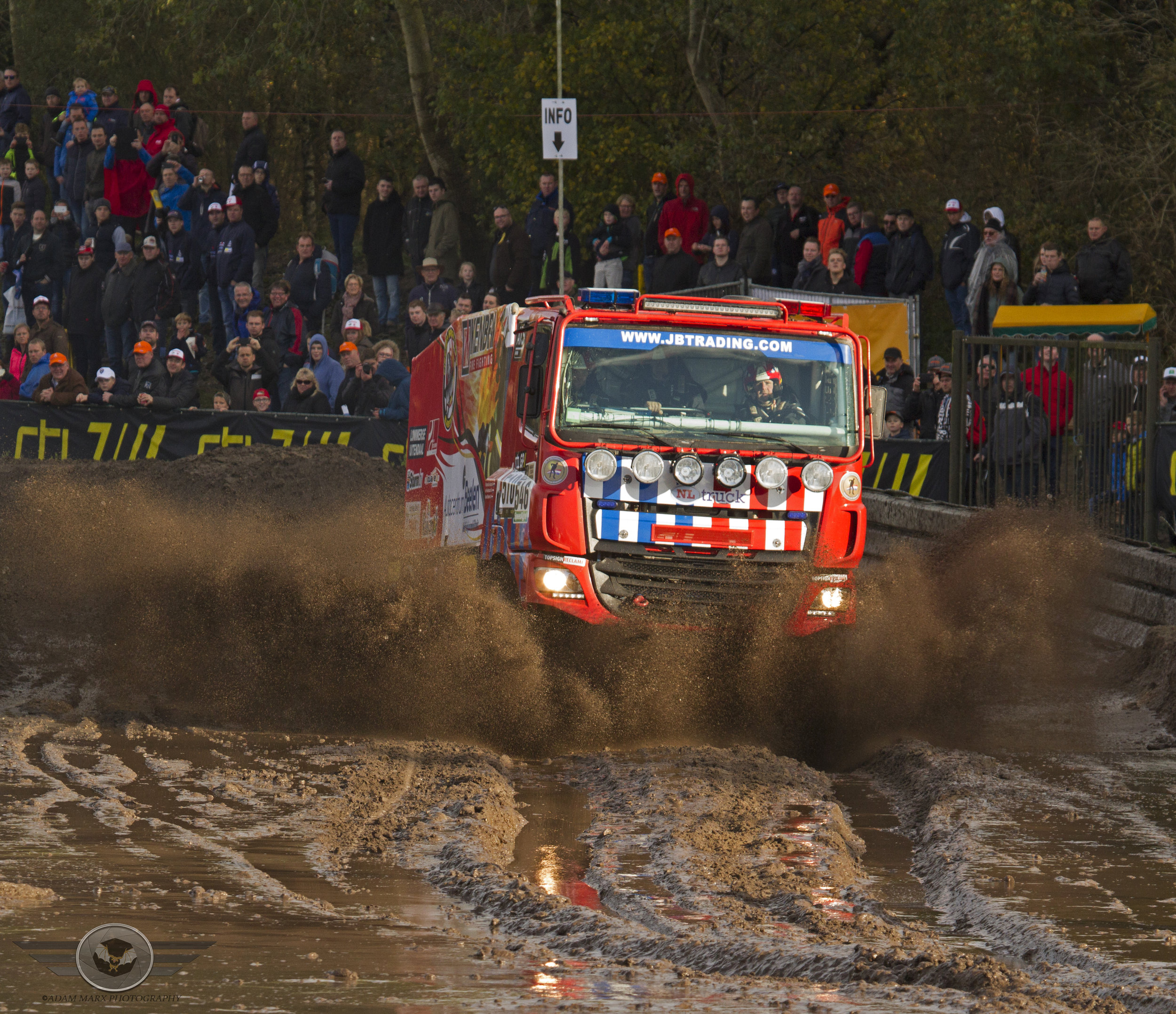 No fire to big or mudpool to deep for the firetruck of Richard de Groot.